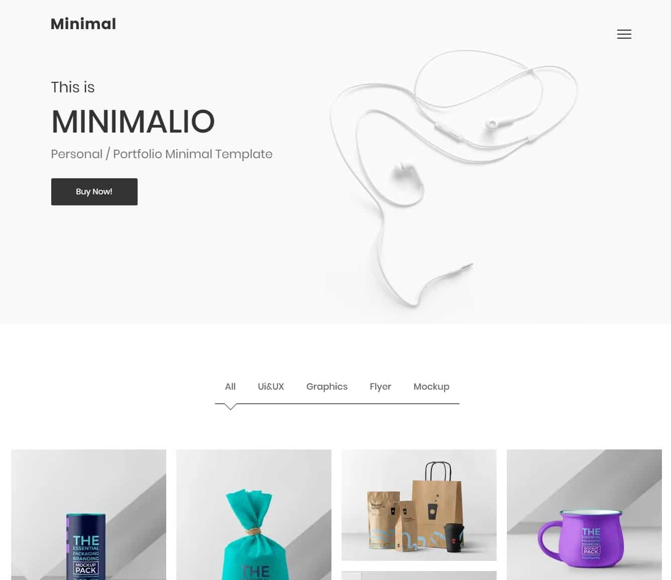 minimalio simple website template