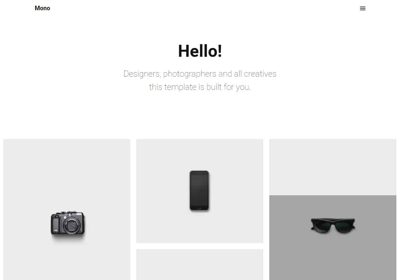 mono simple website template