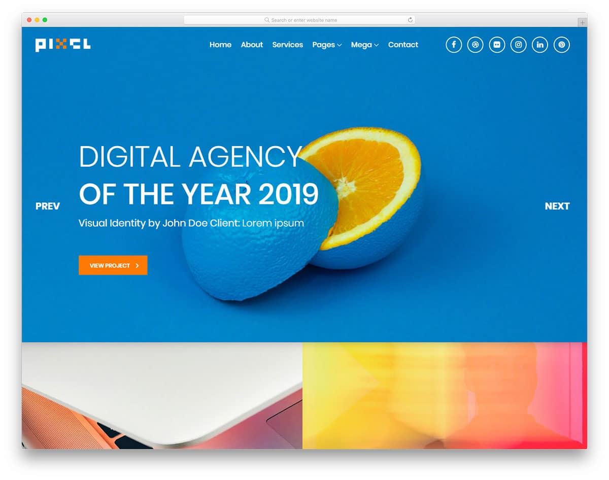 pixel-free-portfolio-website-templates