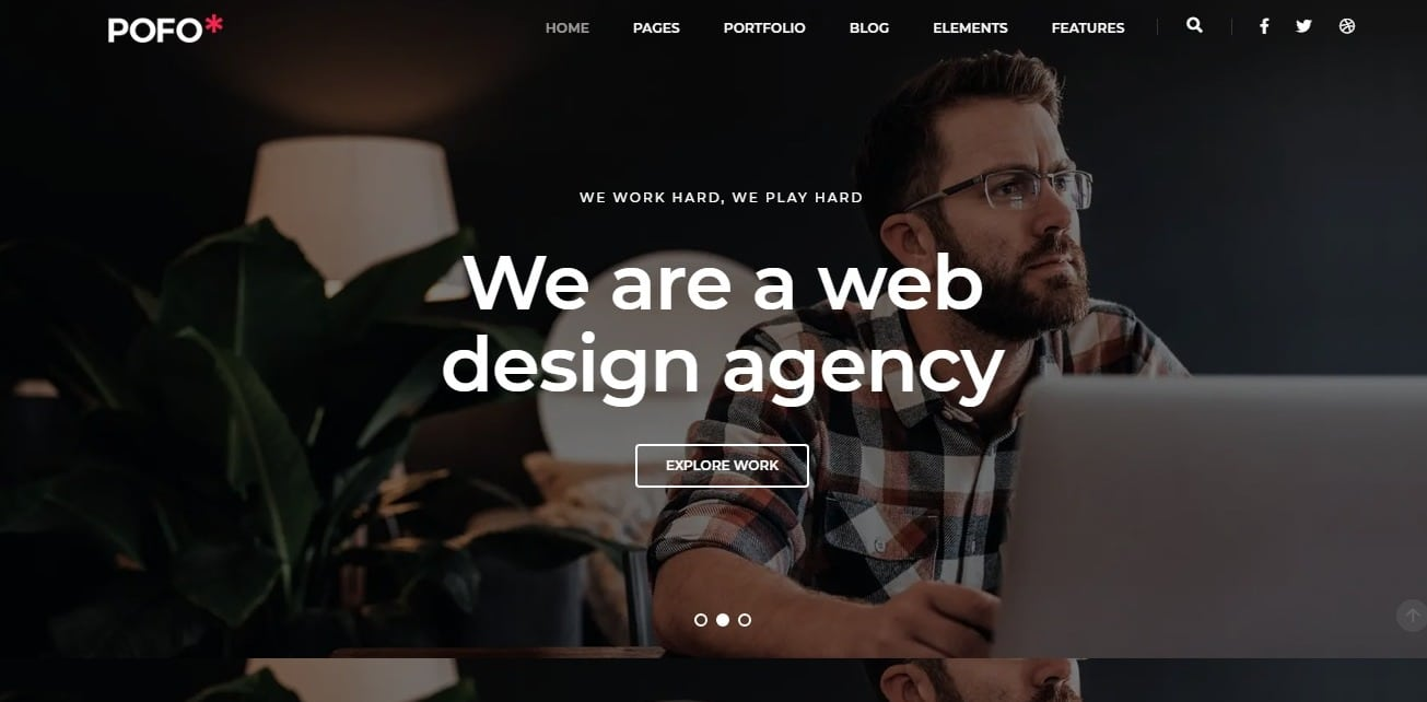 pofo simple website template