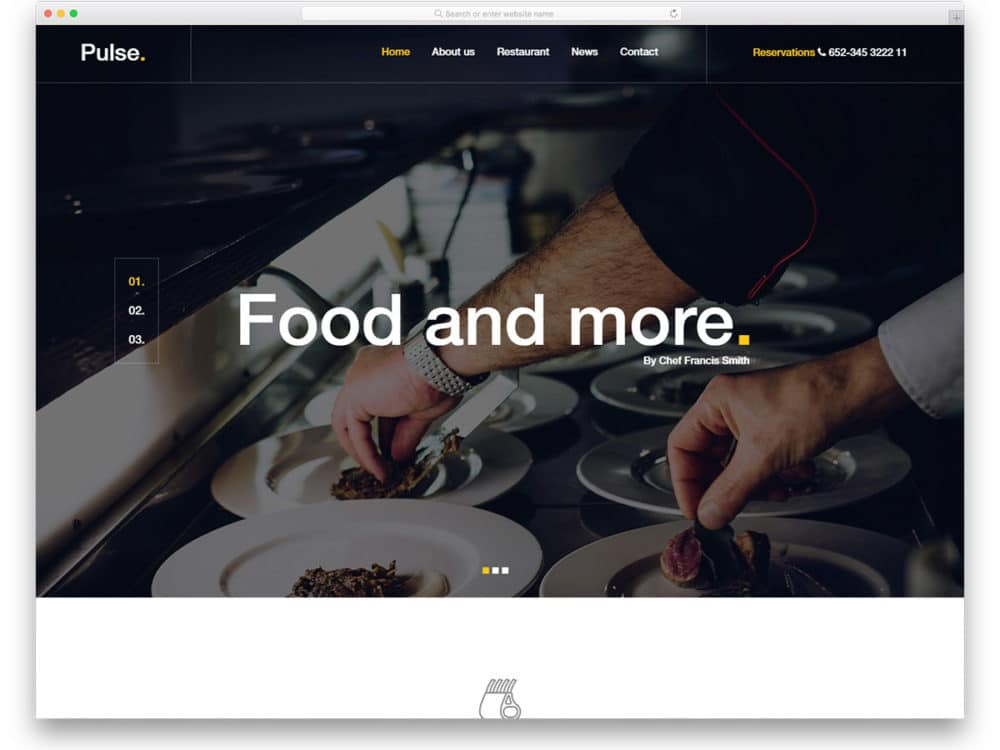 20 Best Ever Free Restaurant Website Templates Of 2019