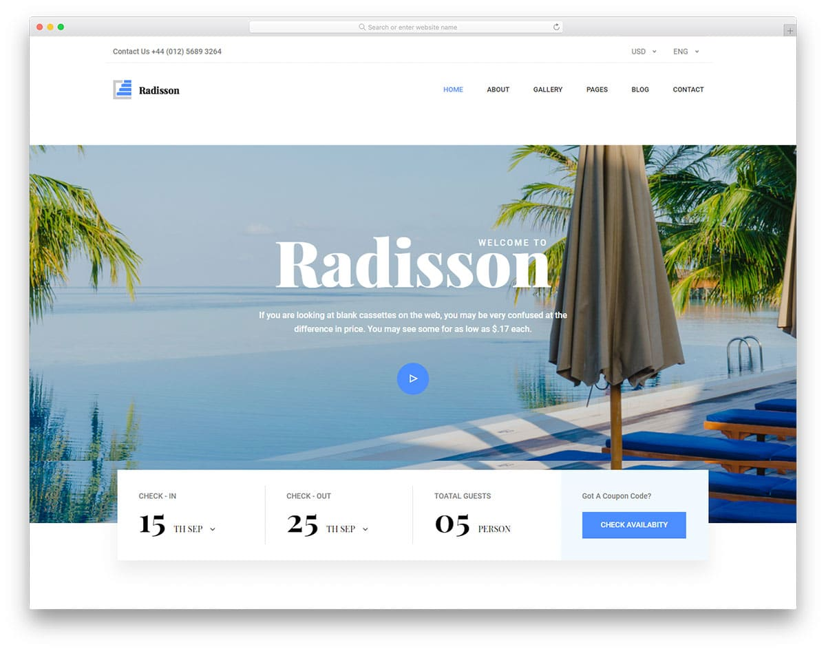 radisson-free-hotel-website-templates