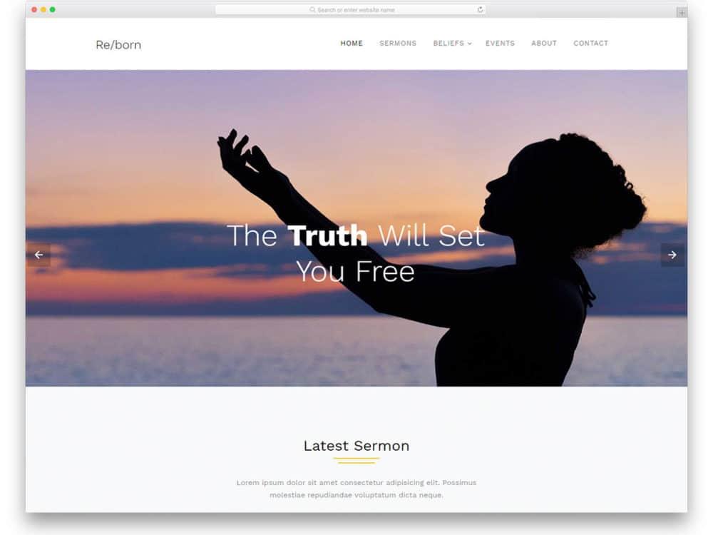 reborn-free-church-website-templates