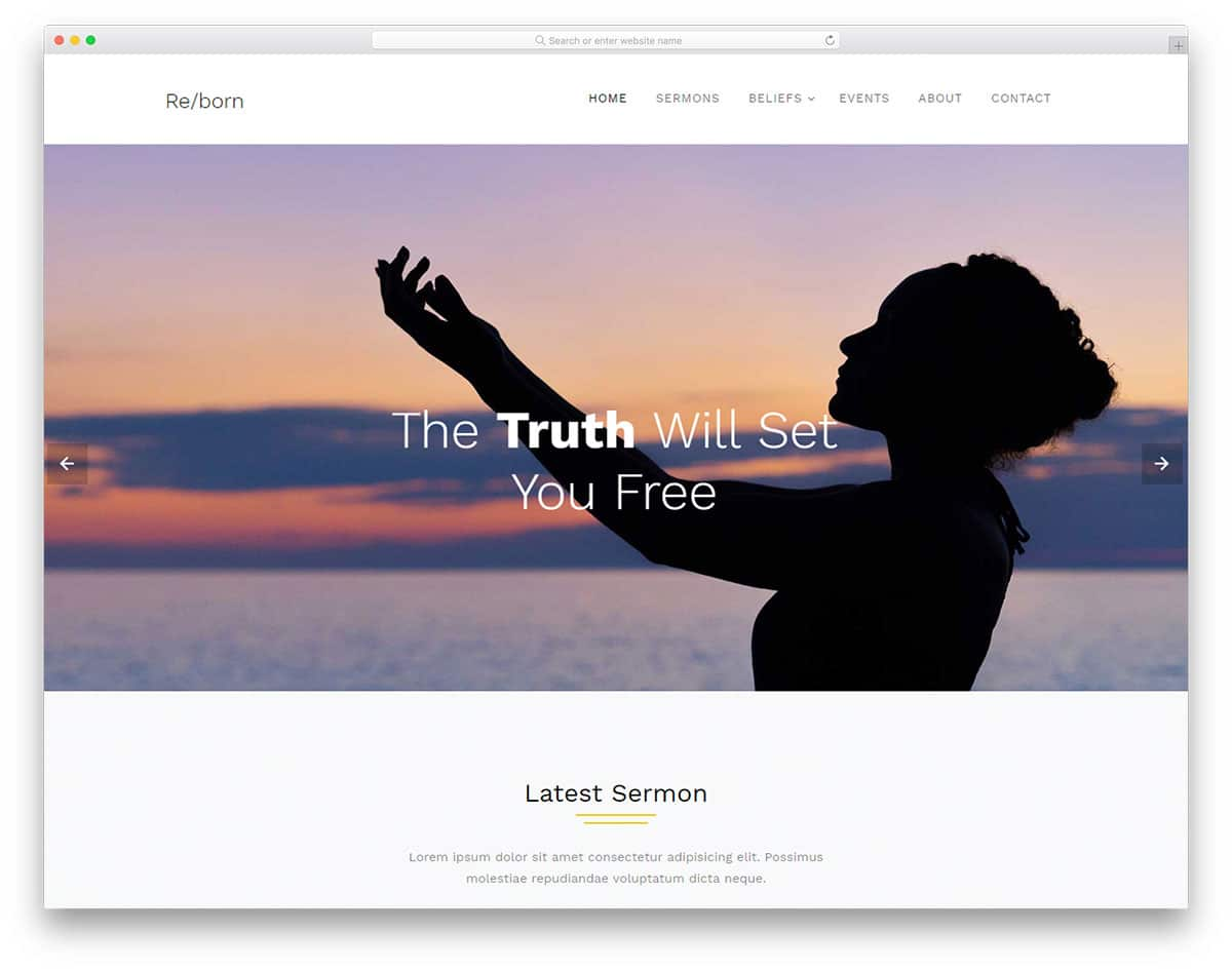 reborn-free-church-website-templates