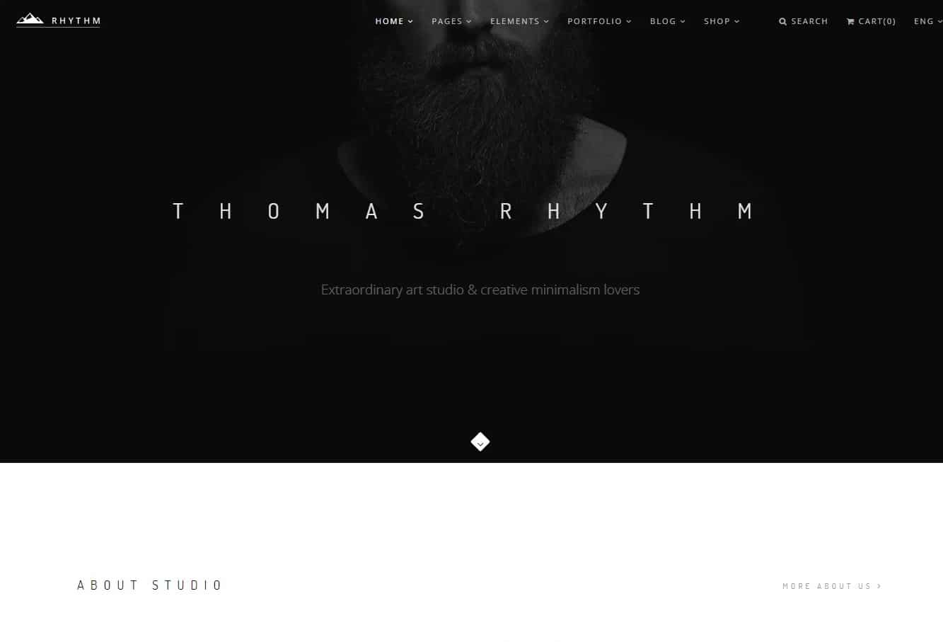 rhythm simple website template