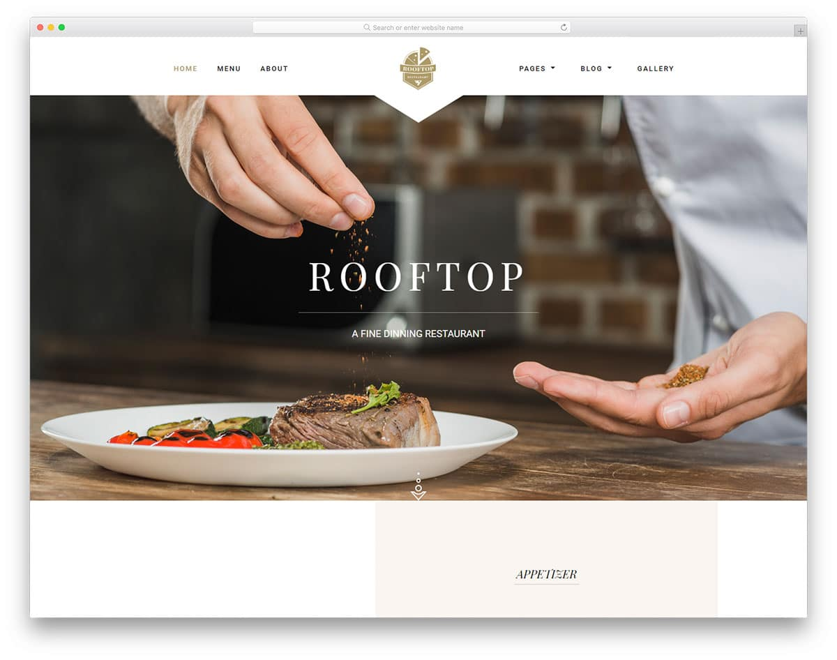 rooftop-free-restaurant-website-templates