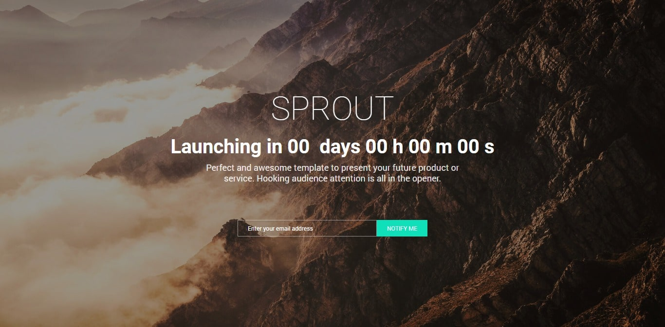 sprout bootstrap website template with video background
