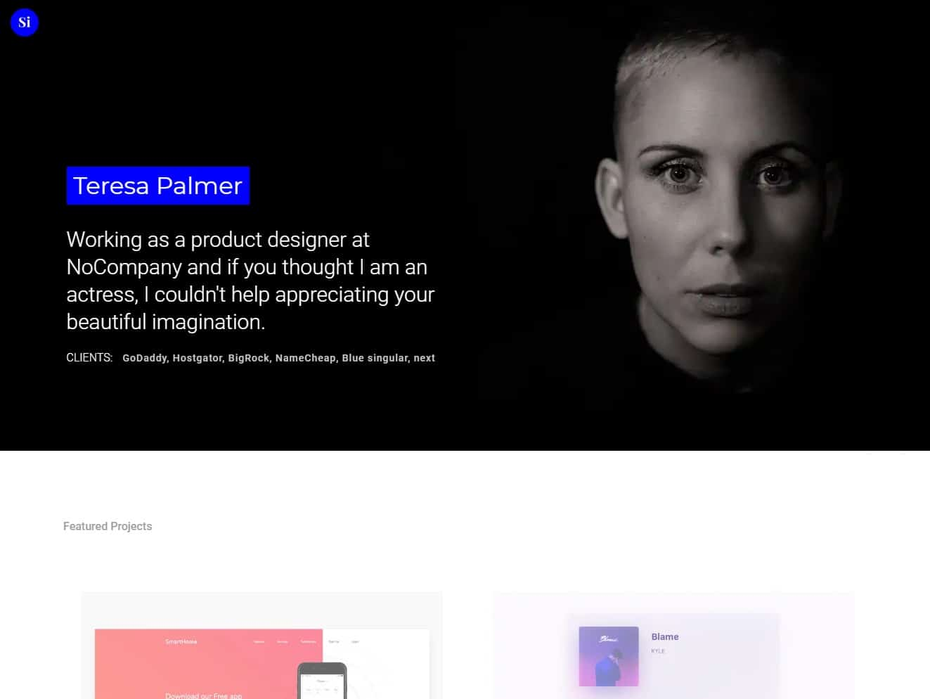 singular simple website template