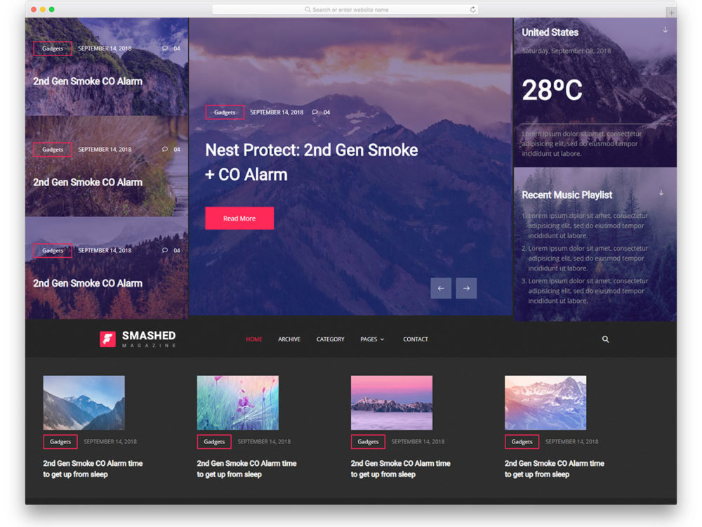 26 Free News Website Templates That Follows Leading News Site Design
