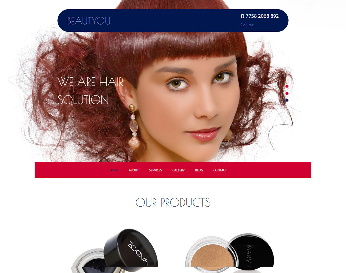 spa and beauty salon website templates - beauty you