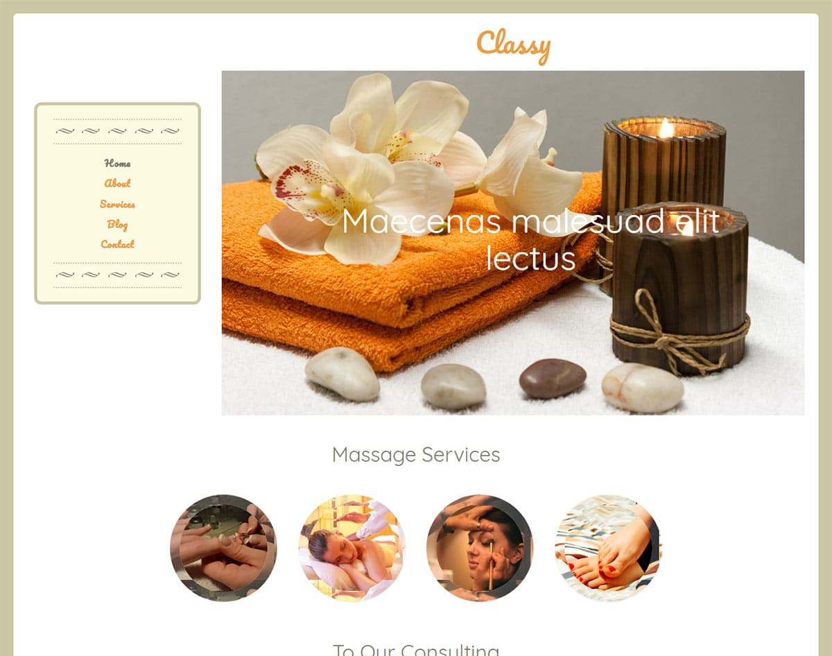 spa and beauty salon website templates - classy
