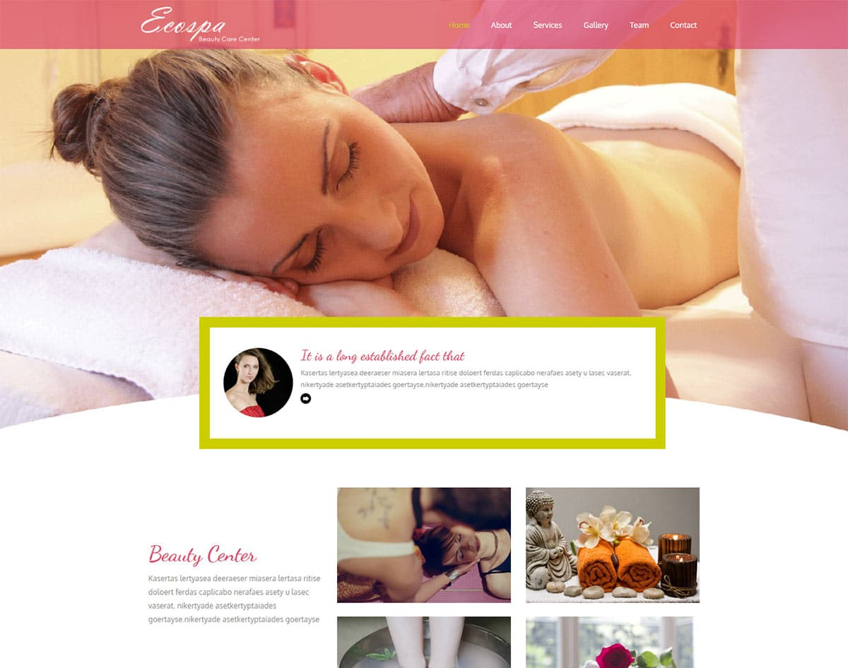 spa and beauty salon website templates -ecospa