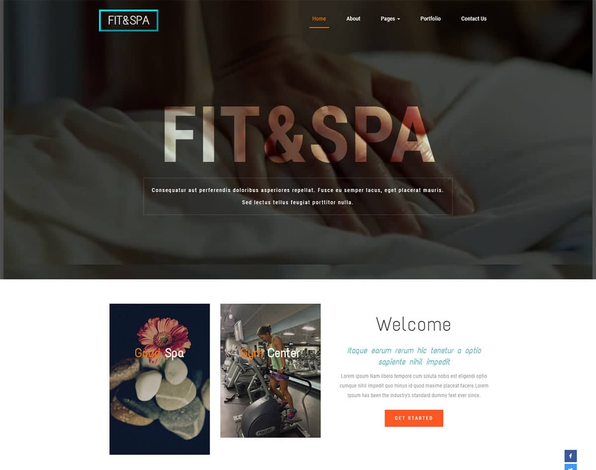 spa and beauty salon website templates - fit and spa
