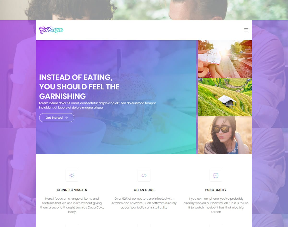 spa and beauty salon website templates-go crepe