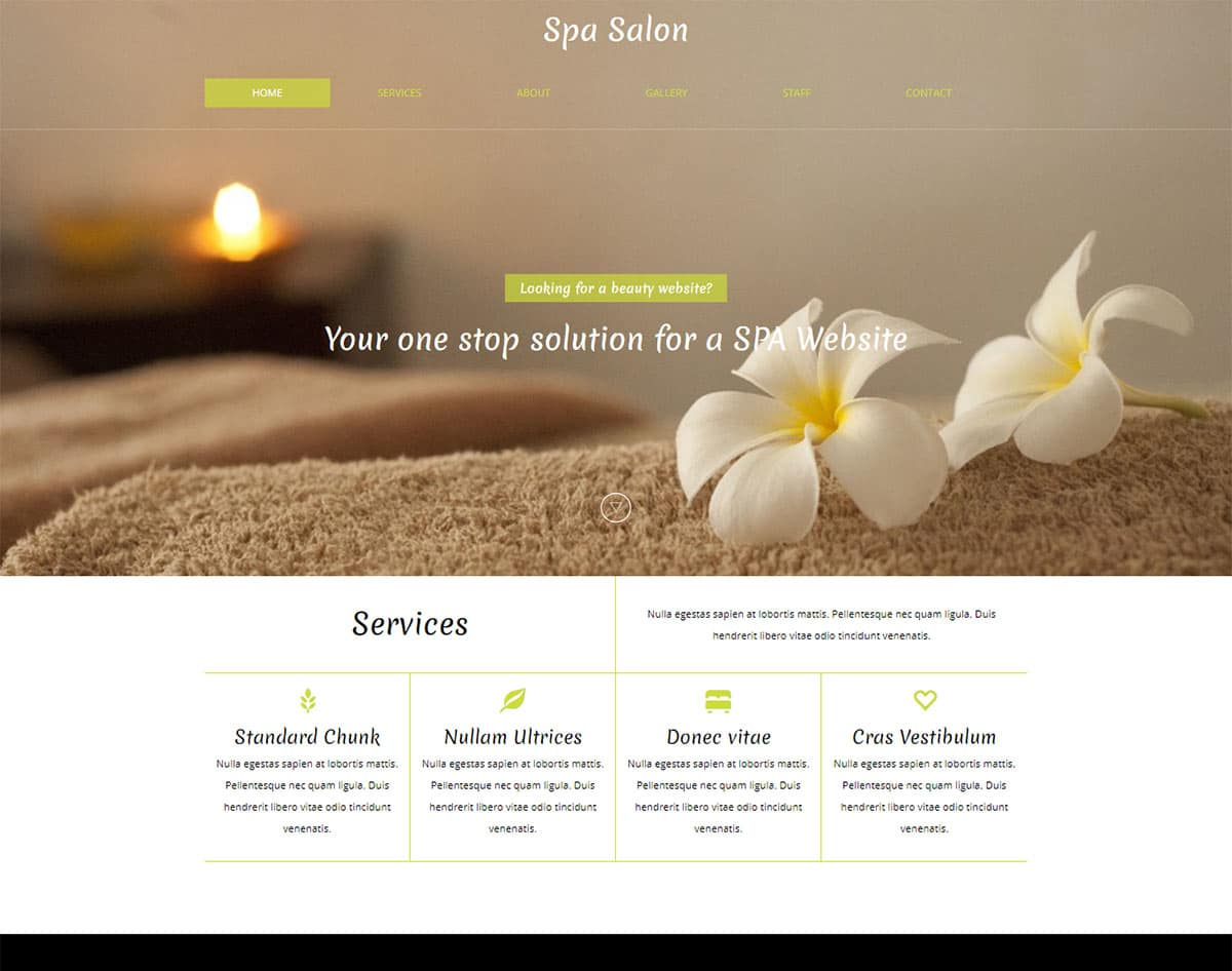 spa and beauty salon website templates - spa salon