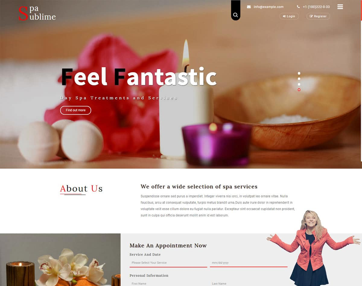 spa and beauty salon website templates -spa sublime