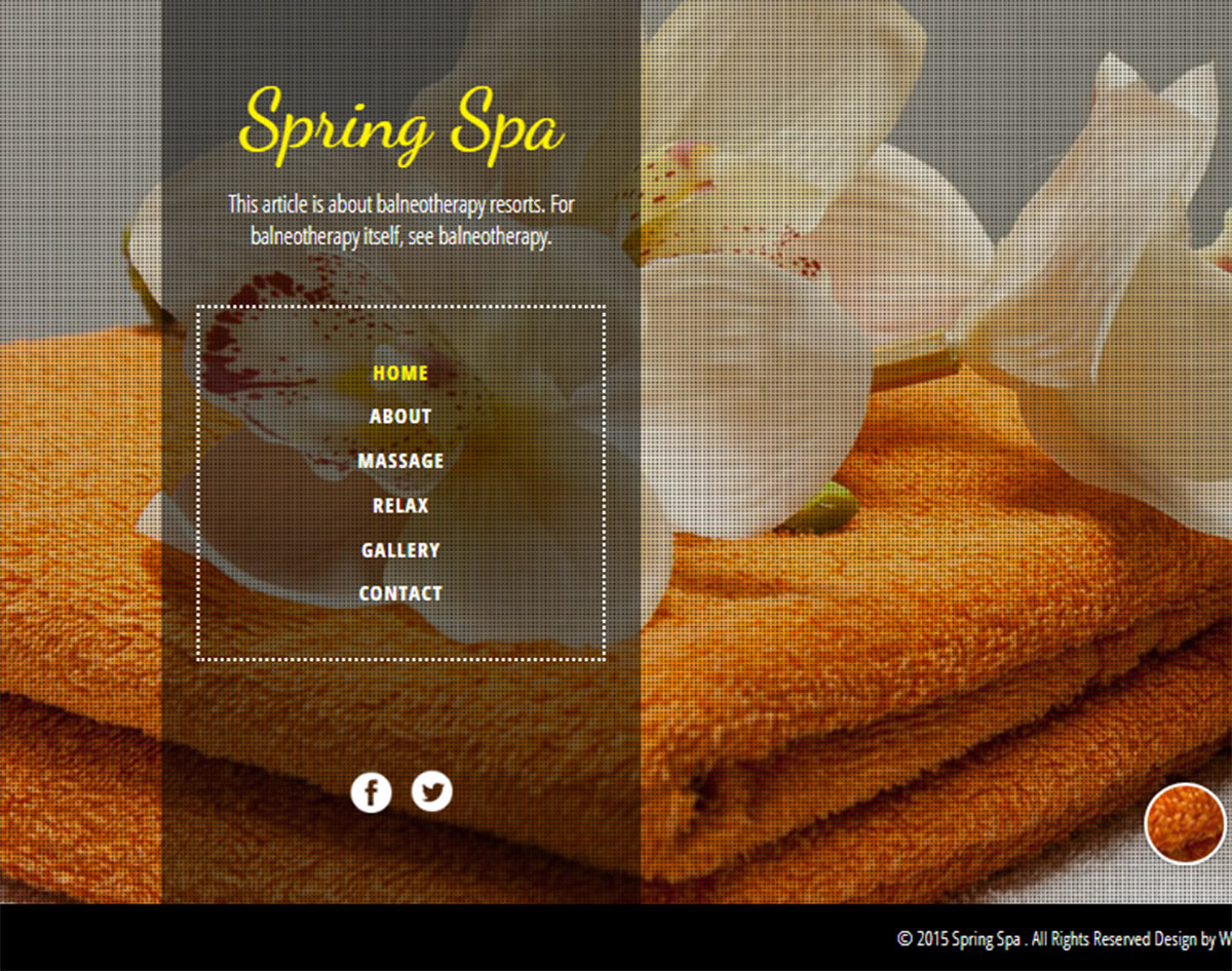 spa and beauty salon website templates - spring spa