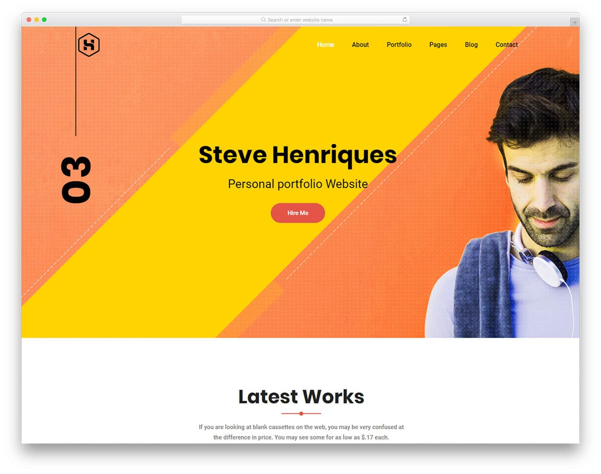 steve-free-portfolio-website-templates