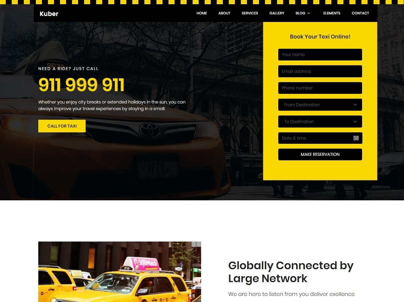 taxi transportation website template
