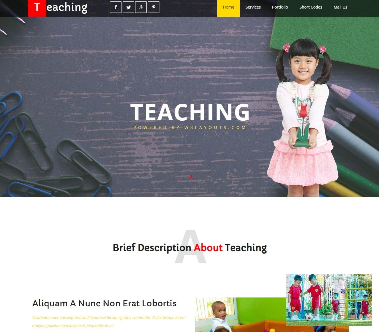 teaching-free-kindergarten-website-template