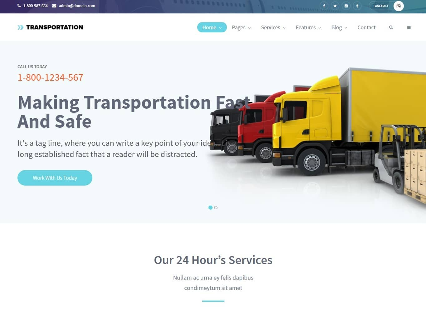transportation transportation website template