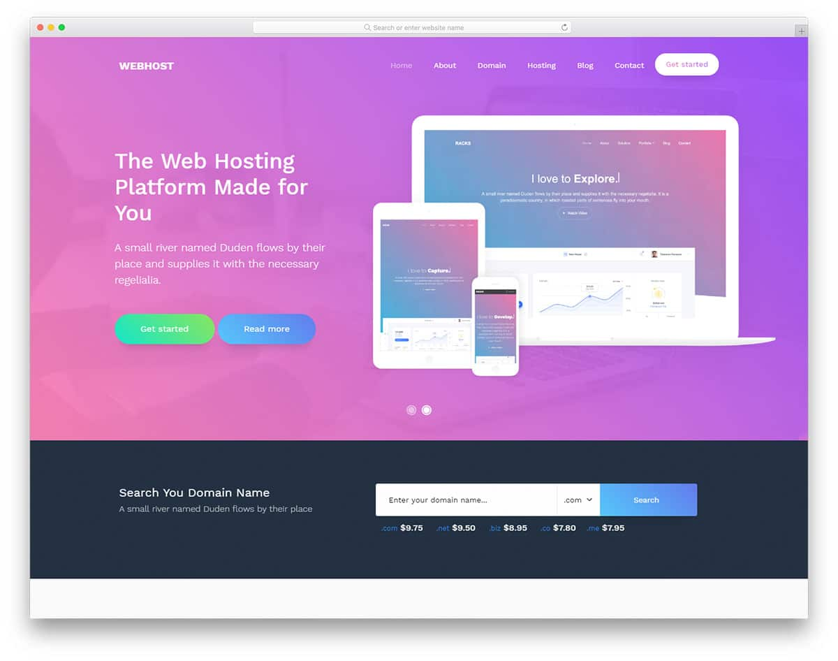 webhost-free-bootstrap-landing-page-templates