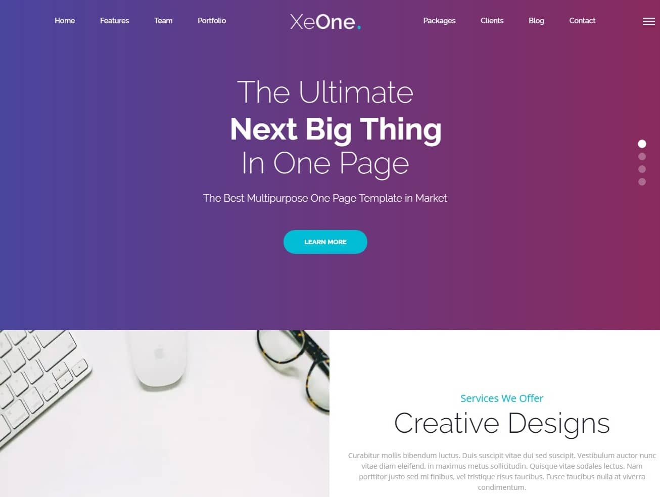 xeone simple website template