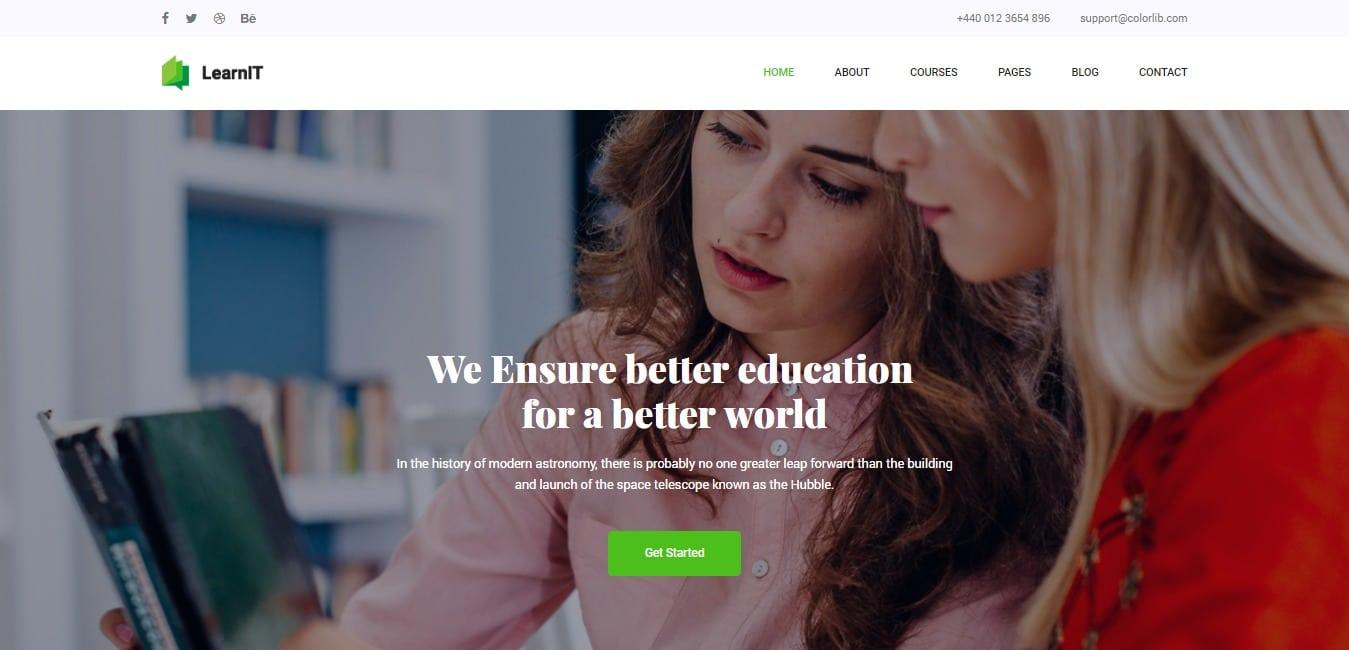 Learn IT Education kindergarten website template