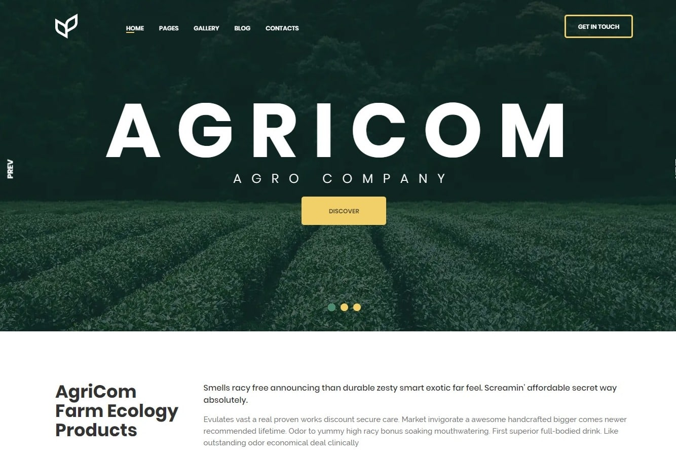 agricom-agriculture-website-template