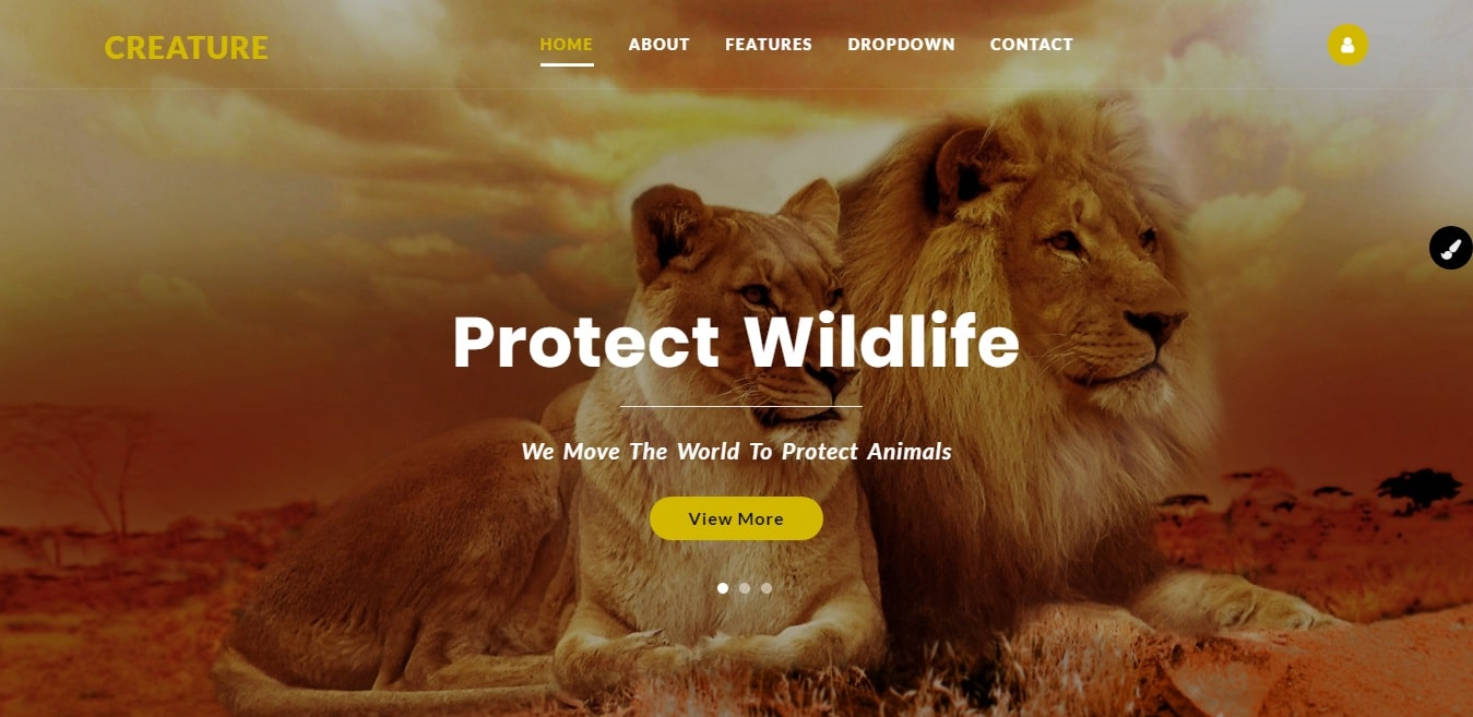 creature-animal-and-pet-website-template