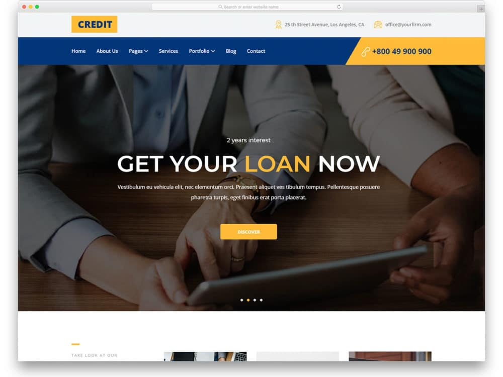credit-free-bank-website-templates