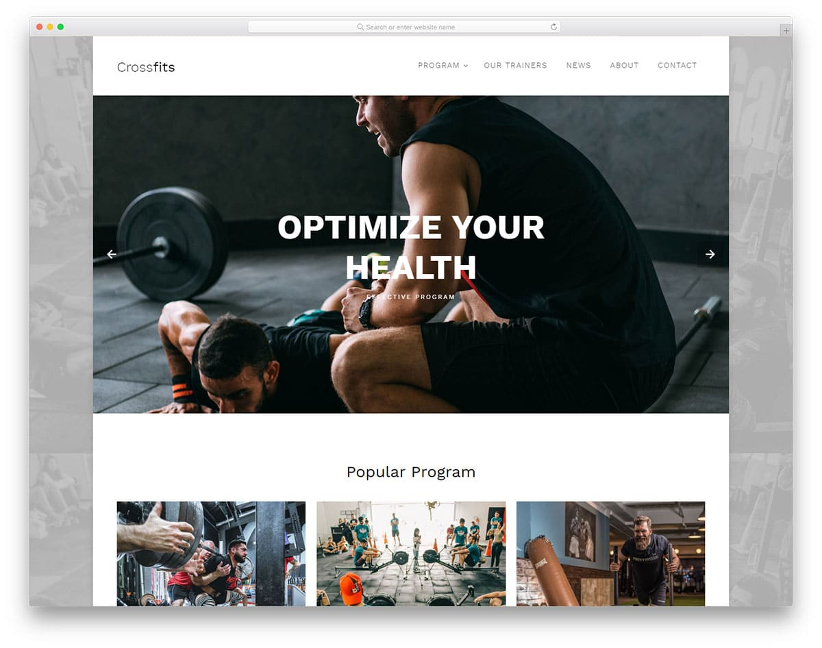 crossfits-free-clean-website-templates