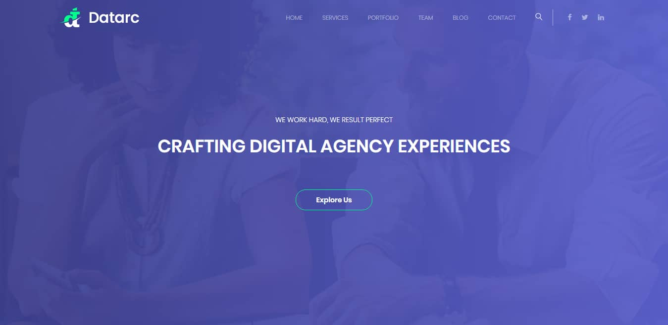 datarc-free-one-page-website-template