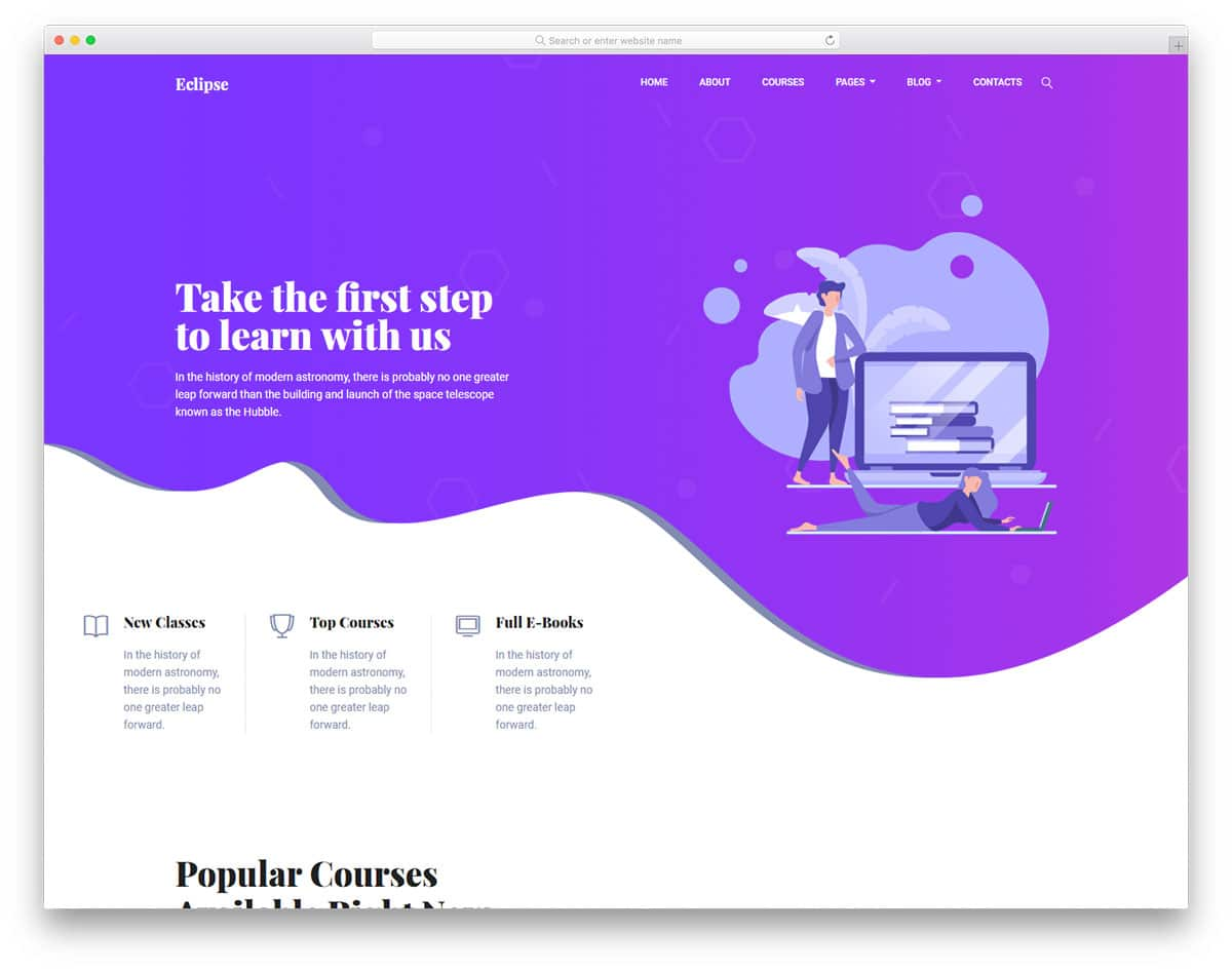 eclipse-free-bootstrap-education-templates