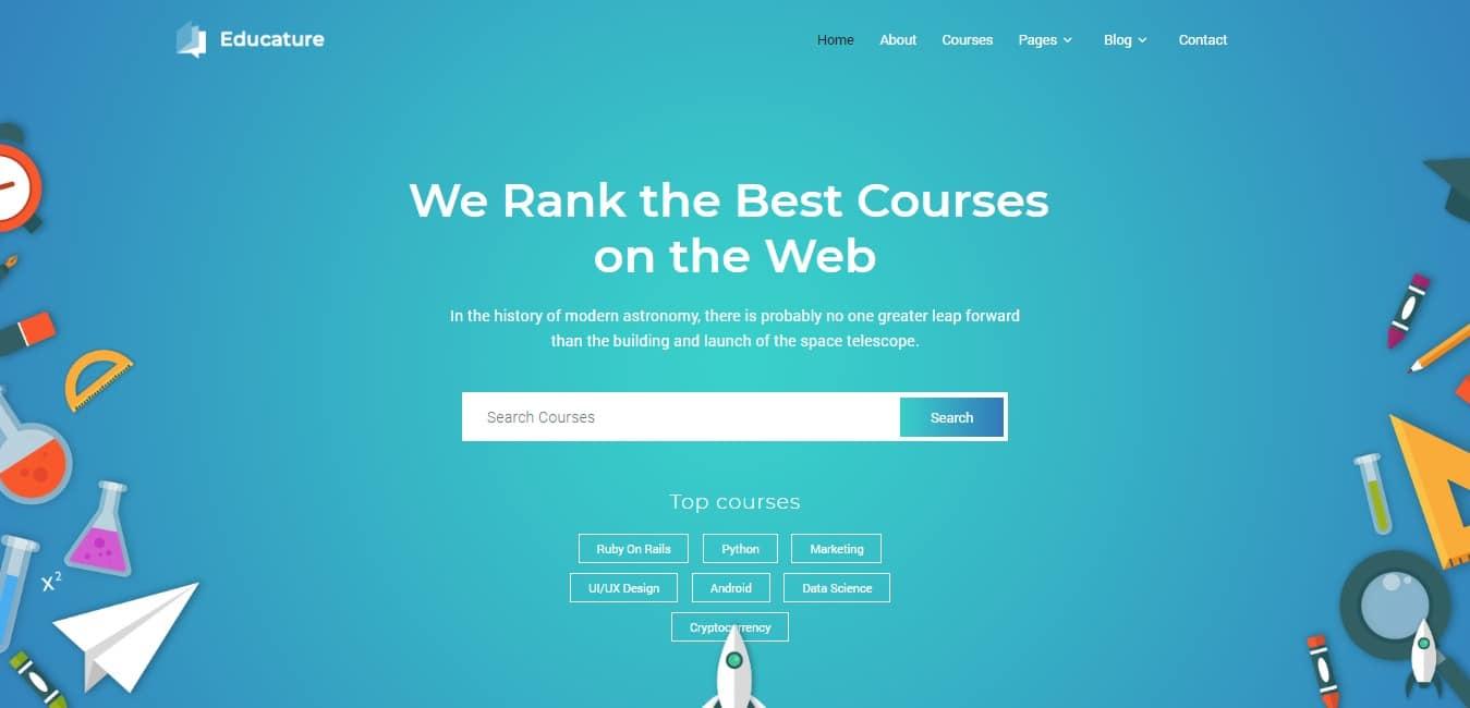 educature kindergarten website template