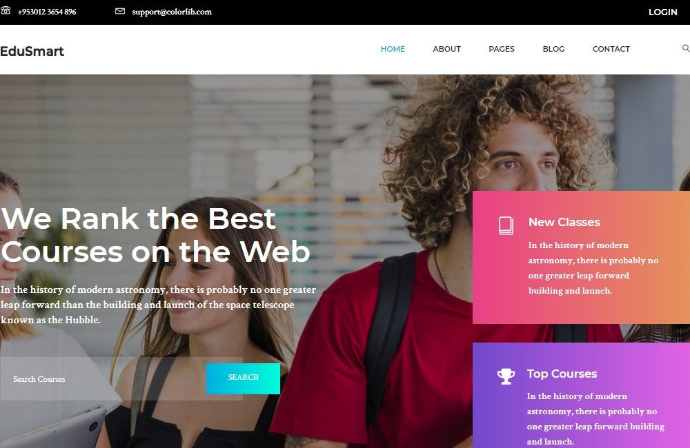 edusmart kindergarten website template