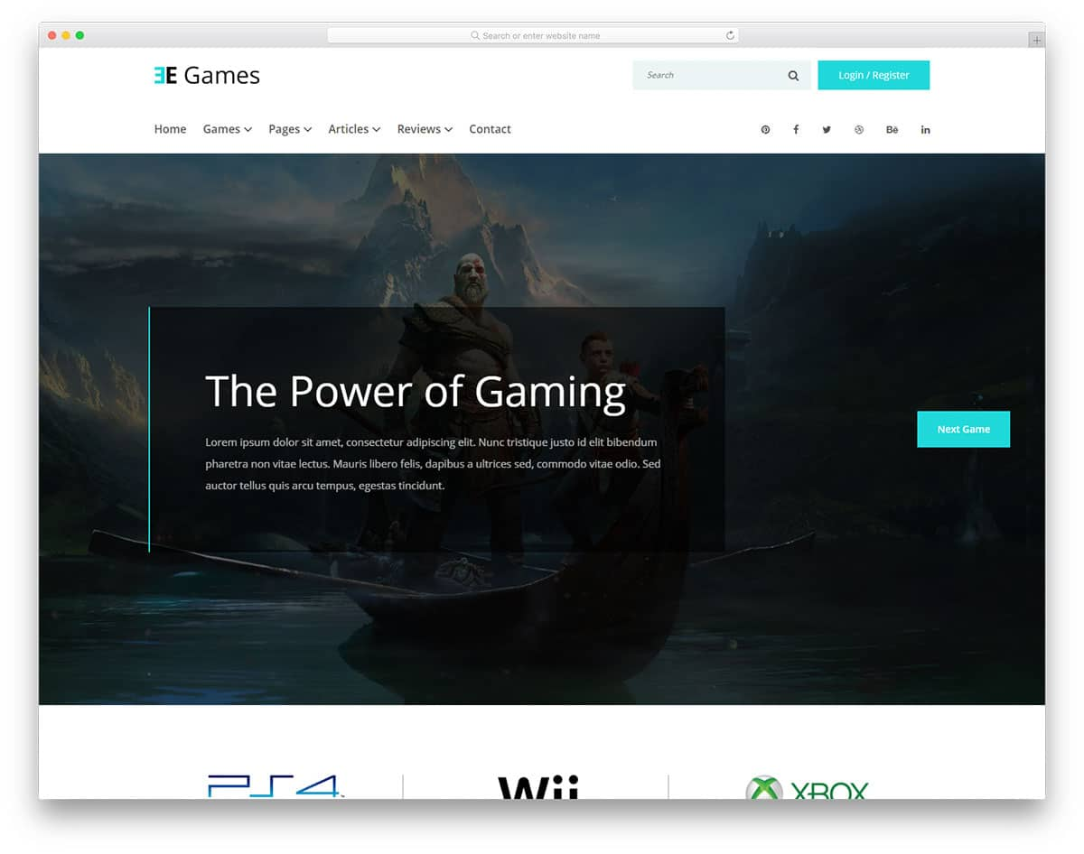 egames-free-entertainment-website-templates
