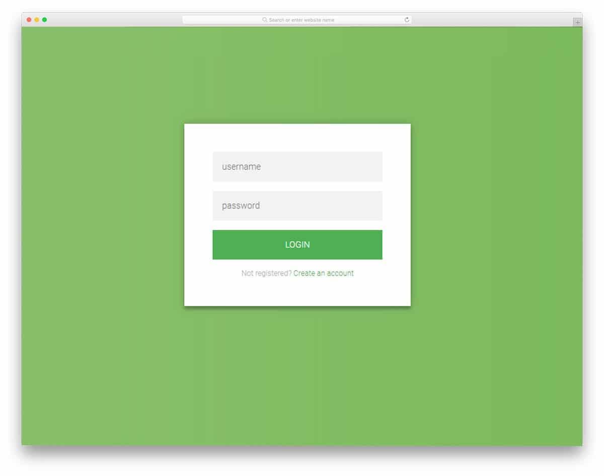 flat-html-login-form