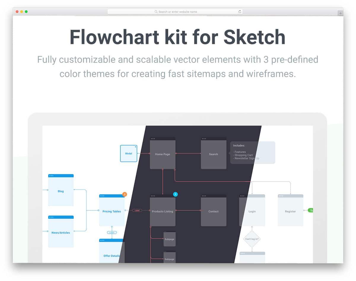 flowchart-uikit-free-ui-kits