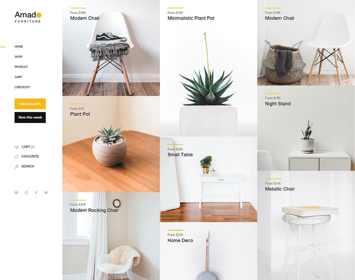 free simple website template - amado
