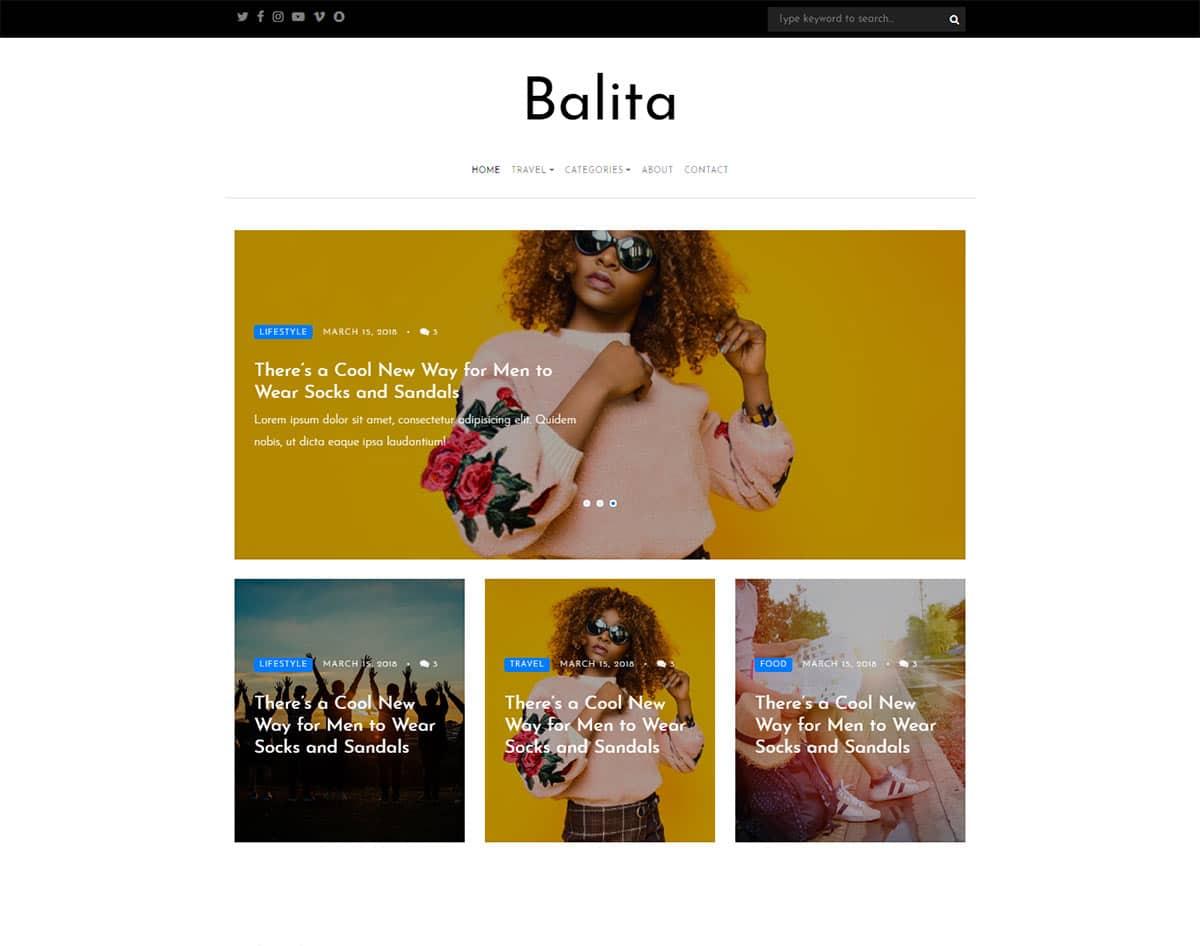 free simple website template - balita