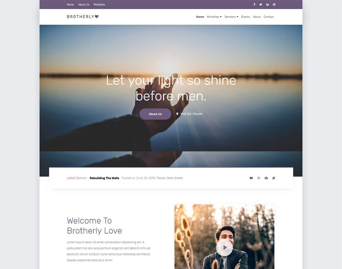 free simple website template - brotherlylove