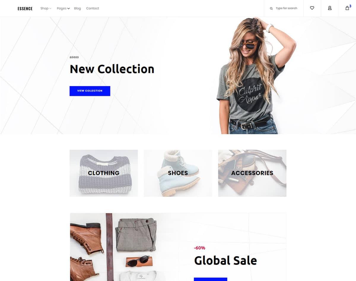 free simple website template - essence
