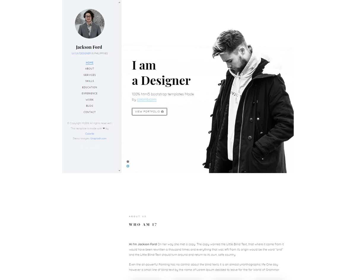 free simple website template - jackson