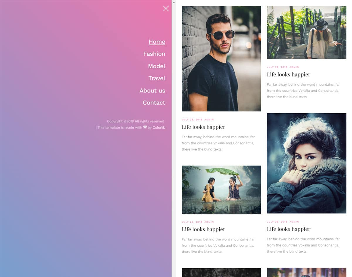 free simple website template - libro