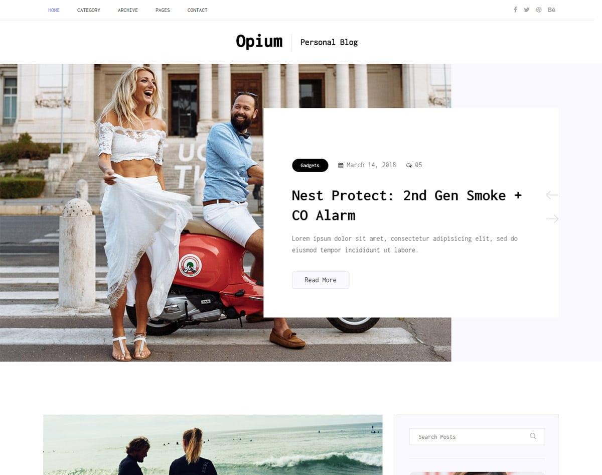 free simple website template - opium