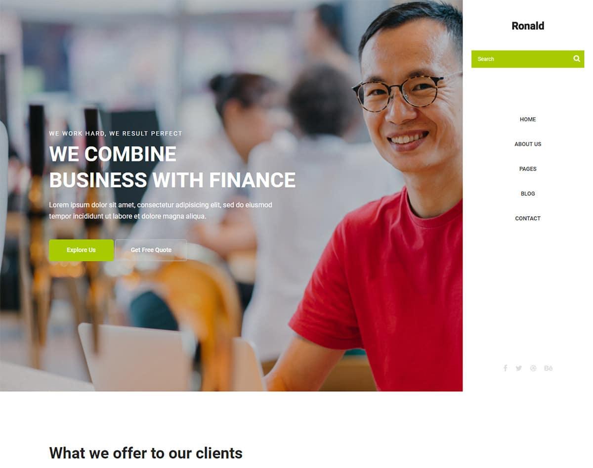 free simple website template - ronald