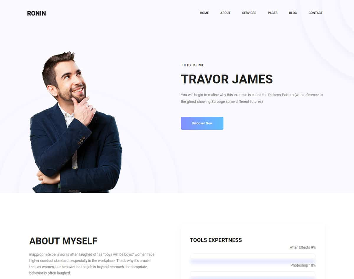 free simple website template - ronin