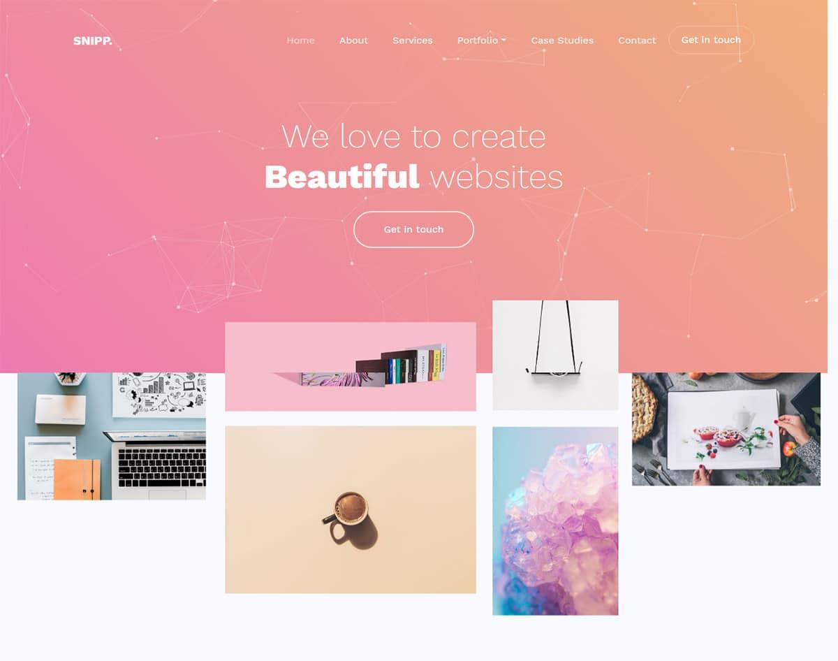 free simple website template - snipp