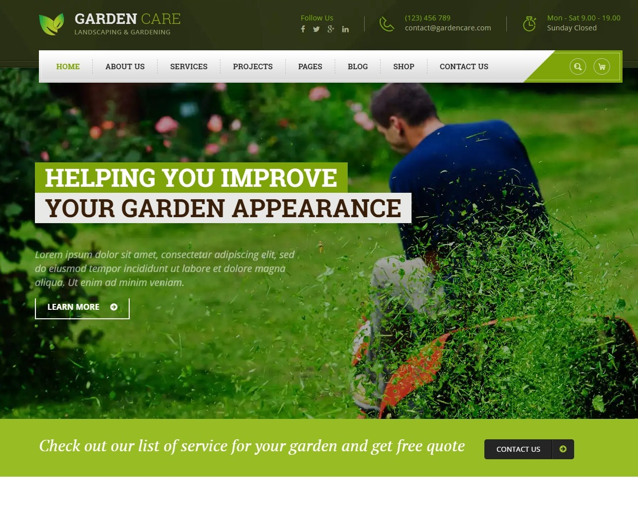 gardencare-agriculture-website-template